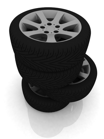 New wheels Stock Photo - 12050661
