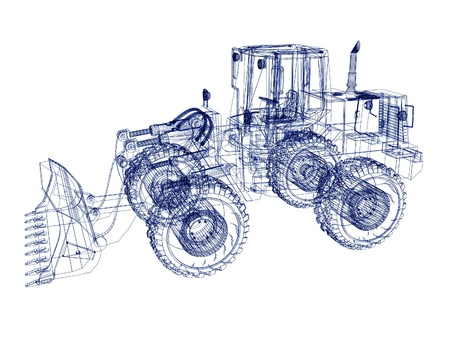 3d model bulldozer photo