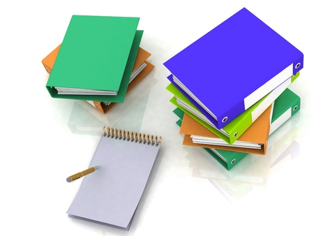 pen with notebook and books photo