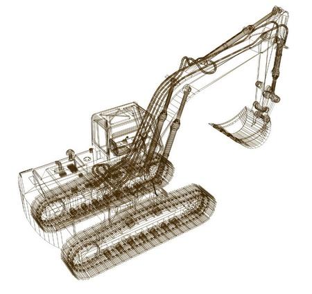 3d model excavator photo
