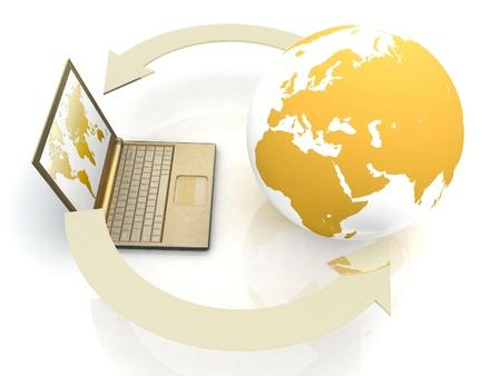 url web: Internet concept