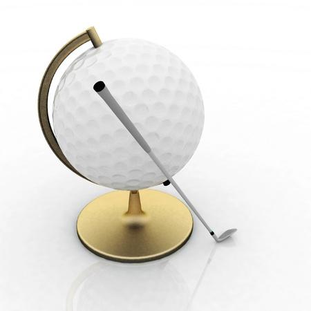 globe golf ball sign Stock Photo - 12050639
