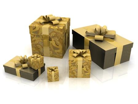 mooi geschenk dozen op een witte achtergrond
