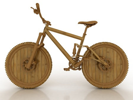 3d wooden model of sporting bicycle photo