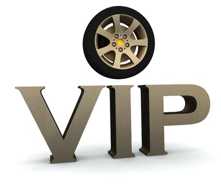 vip with a wheel Stock Photo - 12050559