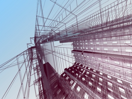 architectural drawings: abstract architectural background Stock Photo