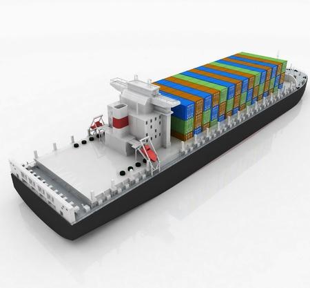 cargo ship Stock Photo - 12051068