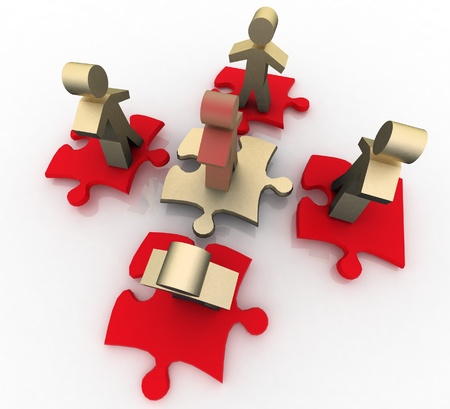 follow the leader: Conceptuele leiderschap concept Stockfoto