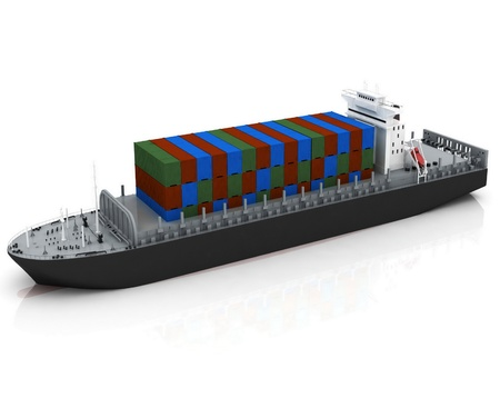 cargo containers: cargo ship