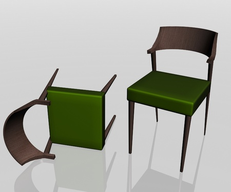elbowchair: Close-up view of the two  elbow-chair