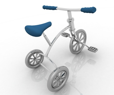 tricycle: Children bicycle Stock Photo