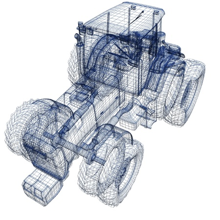 Tractor 3d model photo