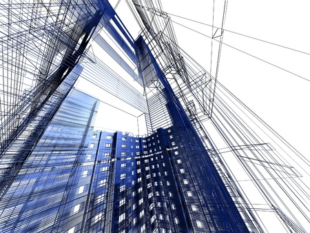 abstract modern architecture photo