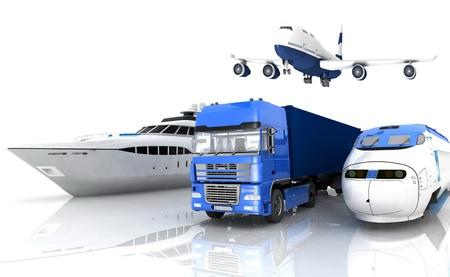 les types de transport Banque d'images