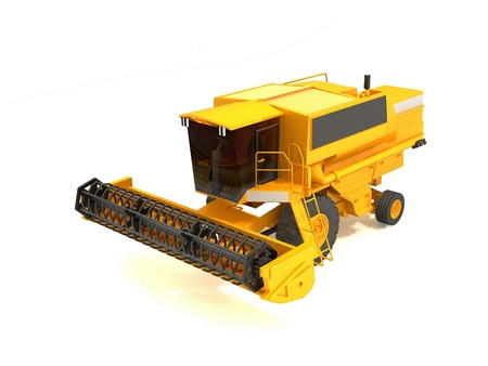 agronomics: combine harvester isolated on a white background