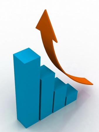achievement charts: Business graph Stock Photo