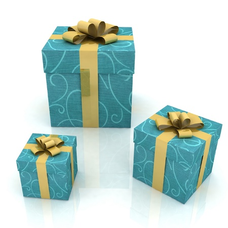 beautiful gift boxes on a white background Stock Photo - 12051806