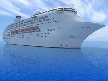 luxury white cruise ship  photo