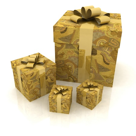 beautiful gift boxes on a white background Stock Photo - 12051809