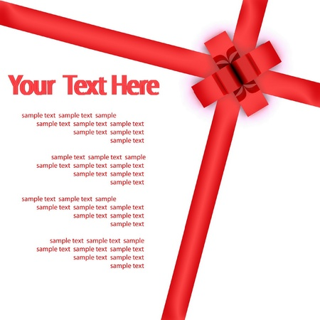 bestowal: Greeting card with a red ribbon