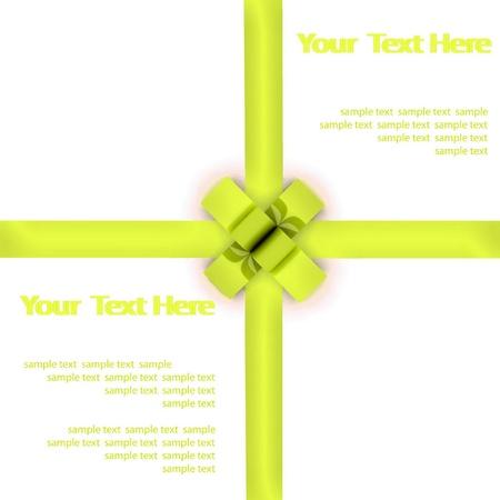 bestowal: Greeting card with a green ribbon