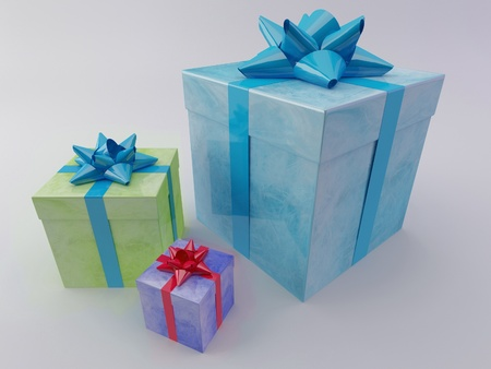 beautiful gift boxes Stock Photo - 12089879