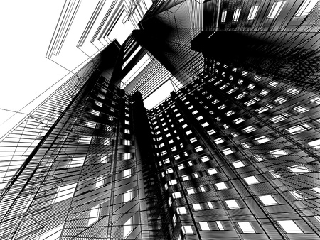 Abstract skyscrapers photo