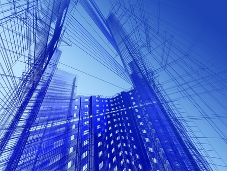 abstract modern architecture Stock Photo - 12090398