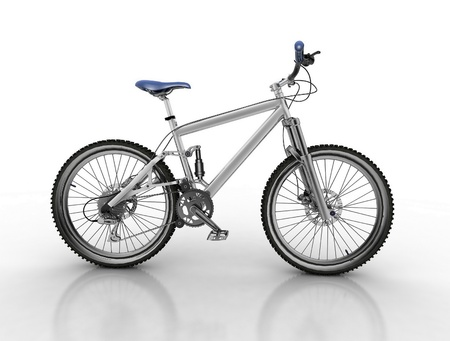 Bicycle isolated on white background photo
