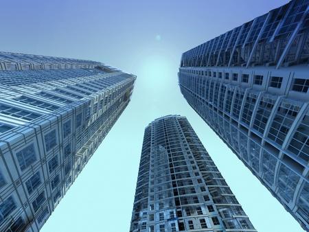 skyscrapers Stock Photo - 12090059