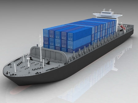 Cargo ship Stock Photo - 12089887