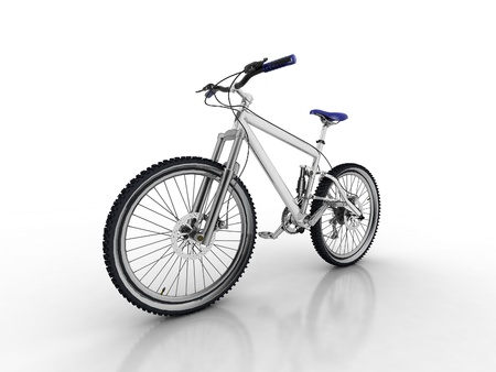 Bicycle isolated on white background Stock Photo - 12089645