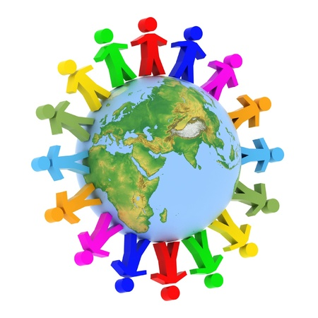 concep: Global communication concep Stock Photo
