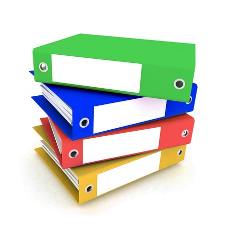 spatial: folders for papers on a white background Stock Photo