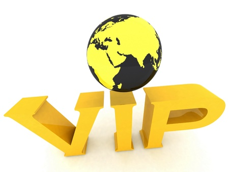 VIP globe photo