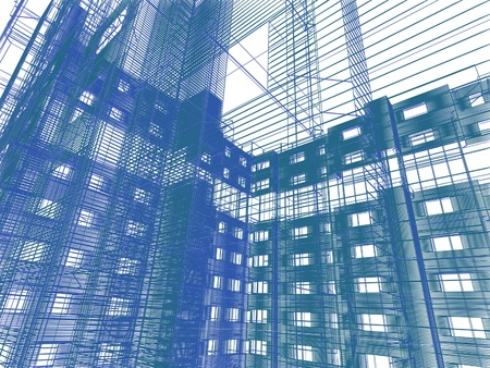 abstract modern architecture Stock Photo - 12091252