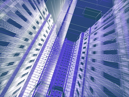 abstract modern architecture Stock Photo - 12091089