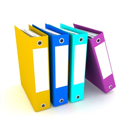folders for papers on a white background photo