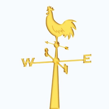 weathercock: weathercock on a white background