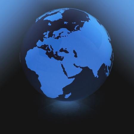 emanation:  Globe of the World Stock Photo