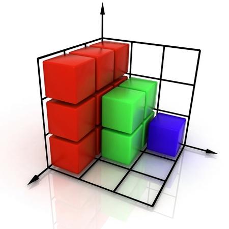 three-dimensional graph Stock Photo - 12113746