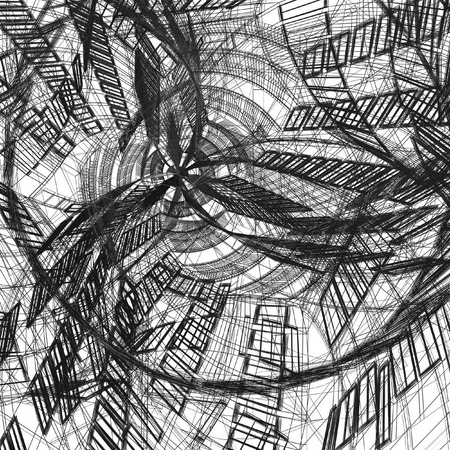perspectiva lineal: arquitectura moderna abstracta Foto de archivo