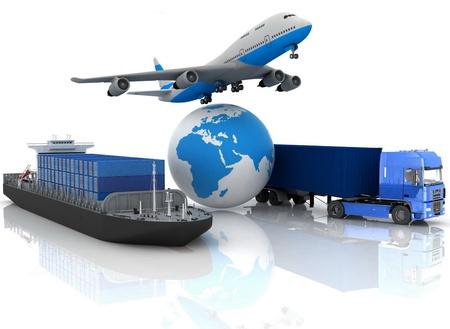 vormen van vervoer voor het vervoer van zijn belastingen. Stockfoto
