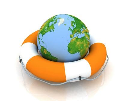 Rettungsring Planeten Standard-Bild