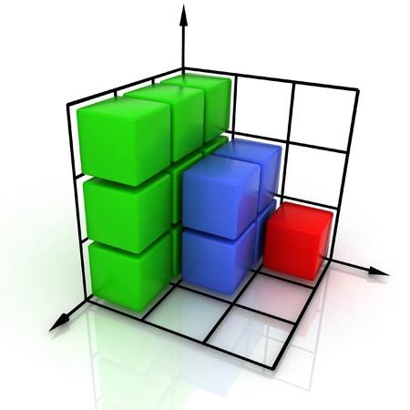 three-dimensional graph Stock Photo - 12113684