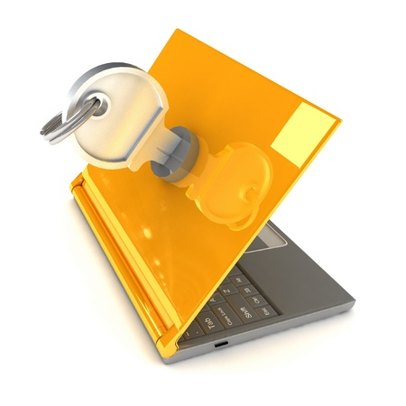 Notebook Lockable Stock Photo - 12113489