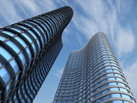 landscape architecture: Skyscrapers Stock Photo