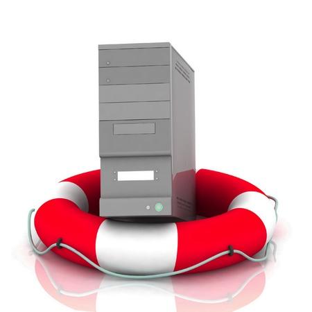 laptop repair: PC lifesaver Stock Photo
