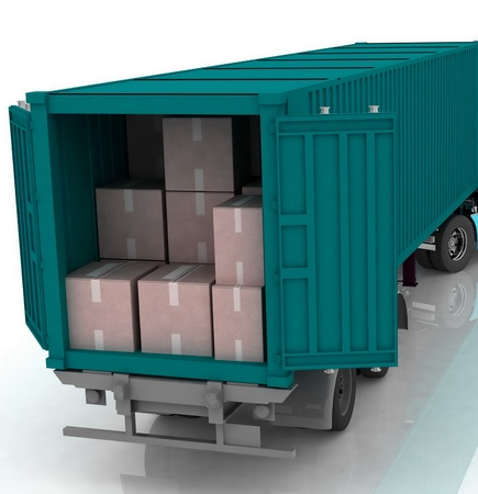 dispatch: Open cargo container   Stock Photo