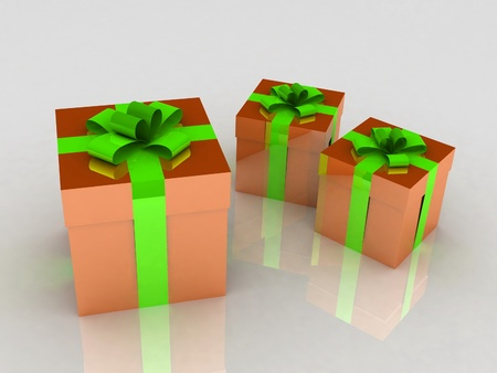 Beautiful gift boxes Stock Photo - 12113850